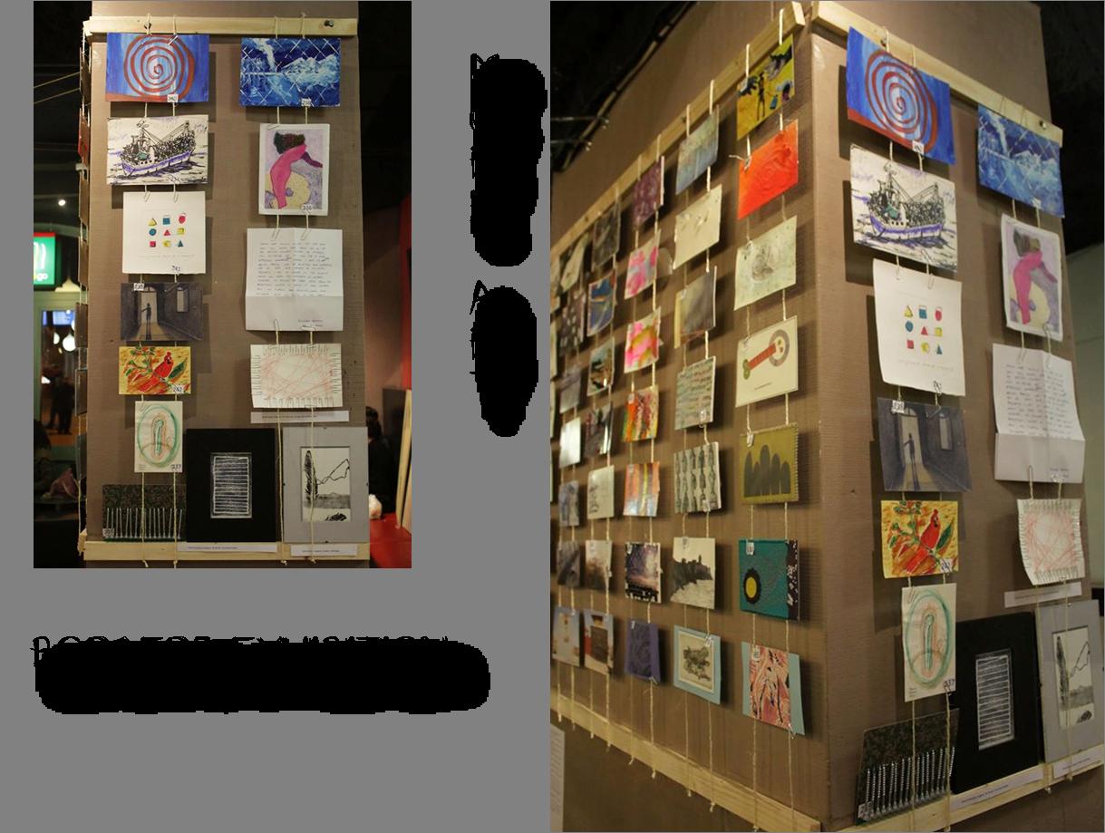Photo de l'exposition dans l'art café Meet&Go