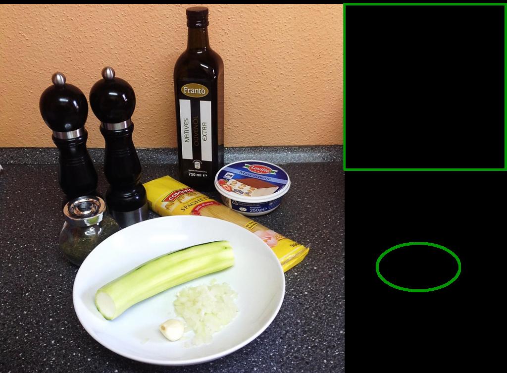 Ingredients de la recette spagettis carbonara végétarienne