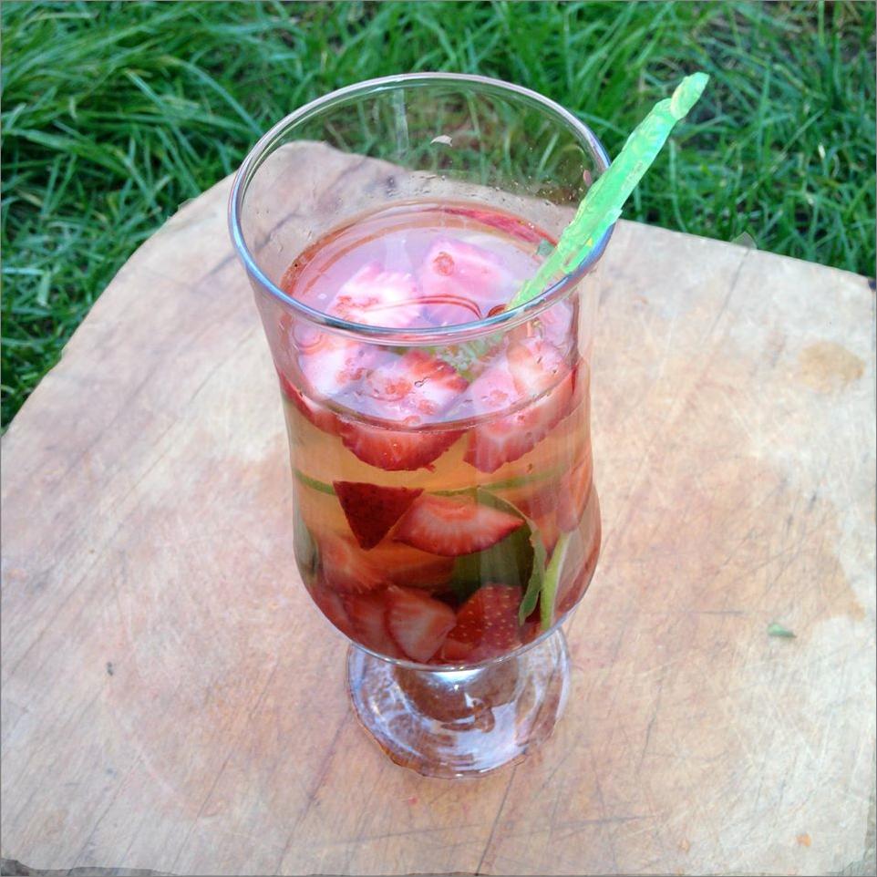 cocktail de fraises et basilic