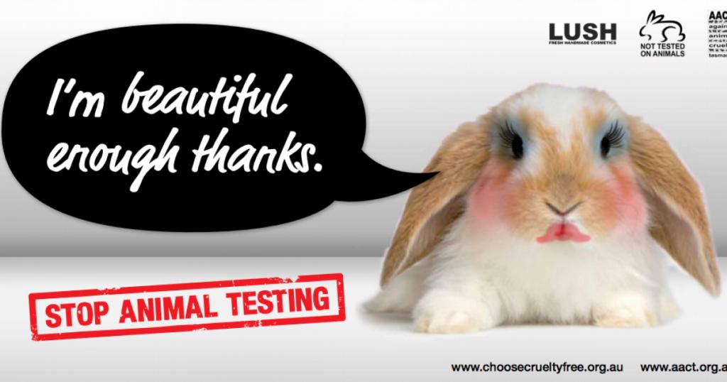 tests sur les animaux lush